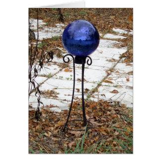 Garden Gazing Ball Globe Blue Card