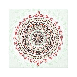 Garden Gem Mandala Canvas Print