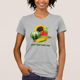 Garden Girl Grow Food / Vegetable Gray T-Shirt