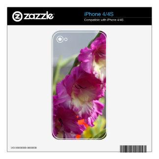 Garden gladiolus (Gladiolus x hortulanus) Skin For iPhone 4S