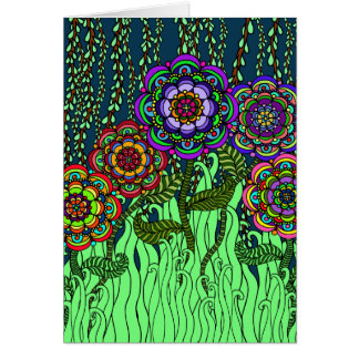 Garden Glow Greeting Card