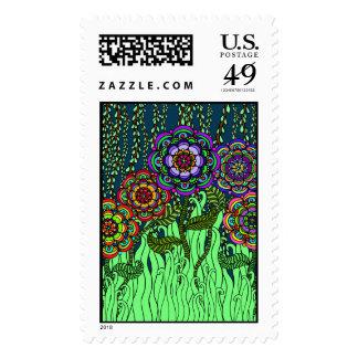 Garden Glow Postage Stamp