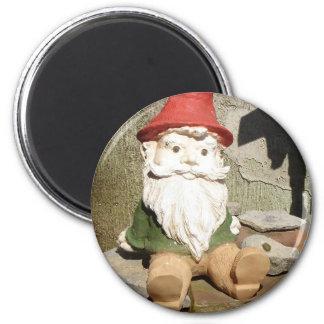 Garden Gnome 2 Inch Round Magnet