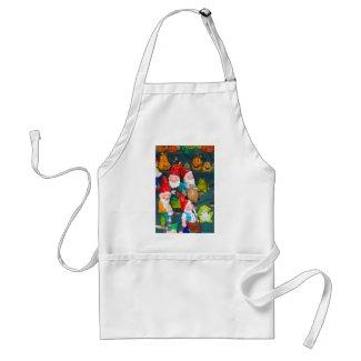 Garden gnome adult apron