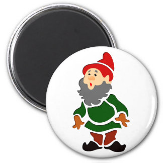 Garden gnome dwarf guards of gnomes 2 inch round magnet