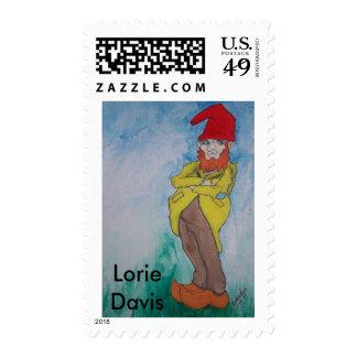 Garden Gnome Postage Stamp