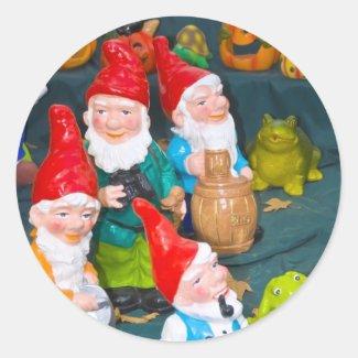 Garden gnome sticker