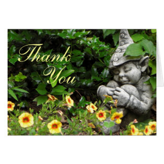 Garden Gnome Thank You Stationery Note Card