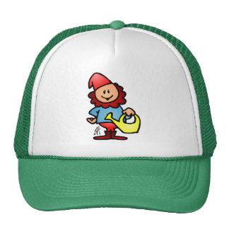 Garden gnome trucker hat