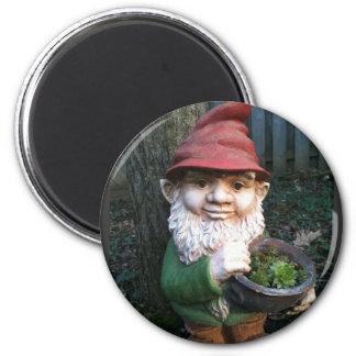 Garden Gnomes 2 Inch Round Magnet