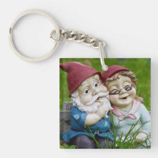 Garden Gnomes Couple Acrylic Keychain