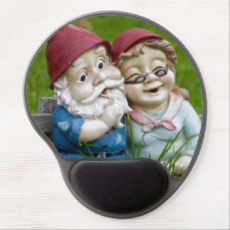 Garden Gnomes Couple Gel Mouse Pad