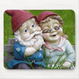 Garden Gnomes Couple Mouse Pad
