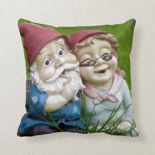 Garden Gnomes Couple Pillow