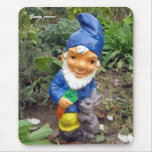 Garden gnomes mouse pad