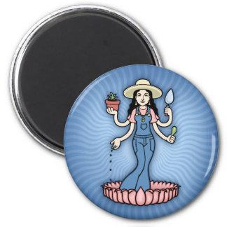 Garden Goddess 2 Inch Round Magnet