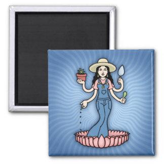 Garden Goddess 2 Inch Square Magnet