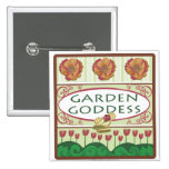 Garden Goddess Button