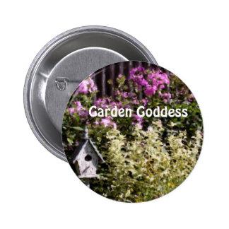Garden Goddess Flower Garden Cute Button