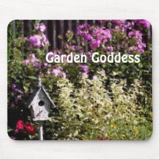 Garden Goddess Flower Garden Mouse Pad