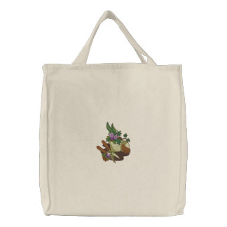 Garden Goddess -Tote Embroidered Tote Bag