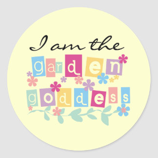 Garden Goddess Tshirts and Gifts Classic Round Sticker