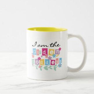 Garden Goddess Tshirts and Gifts Two-Tone Coffee Mug