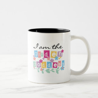 Garden Goddess Tshirts and Gifts Two-Tone Coffee Mug