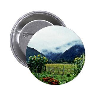 Garden, Golden Bay Area, South Island Pinback Buttons