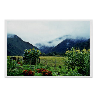 Garden, Golden Bay Area, South Island Poster