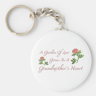 Garden Grandmother Quote Keychain