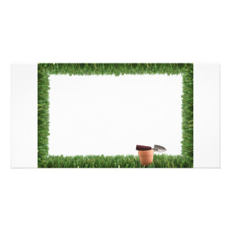 Garden grass frame card