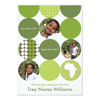 Garden Green Circles Card