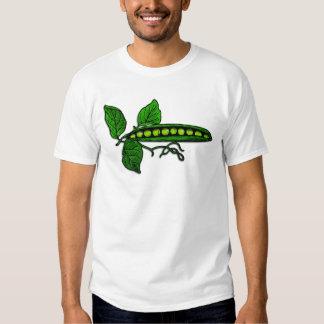 Garden Green Pea Pods Tee Shirt