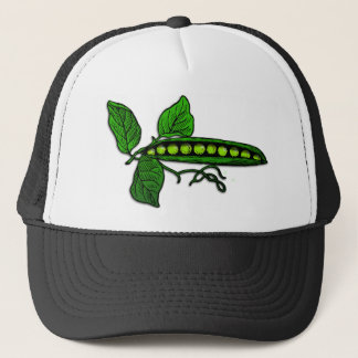Garden Green Pea Pods Trucker Hat