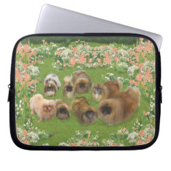 Neoprene Laptop Sleeve 10 inch with Pekingese Phone Cases design