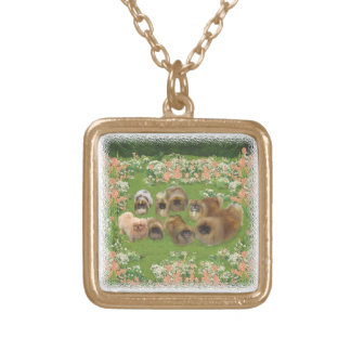 Garden Group Square Pendant Necklace