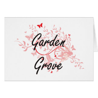 Garden Grove California City Artistic design with Card