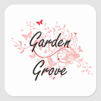 Garden Grove California City Artistic design with Square Sticker