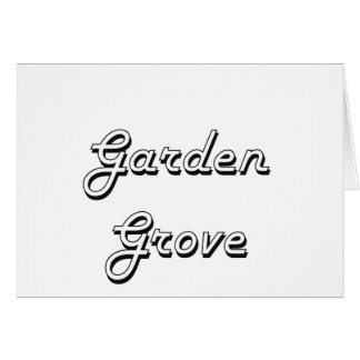 Garden Grove California Classic Retro Design Stationery Note Card