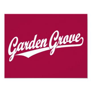 Garden Grove script logo in white Card
