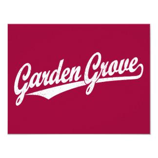 Garden Grove script logo in white distressed Card