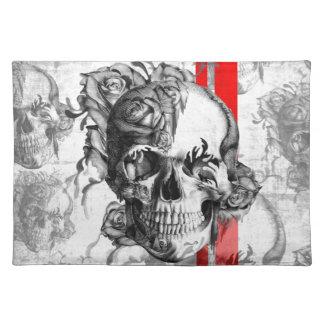 Garden Grove surfabilly skull Cloth Placemat