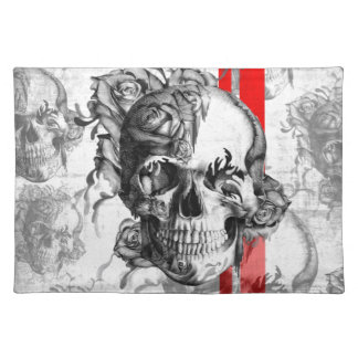 Garden Grove surfabilly skull Placemat