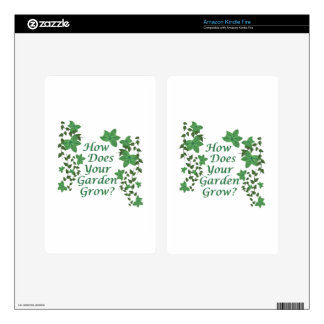 Garden Grow Decal For Kindle Fire