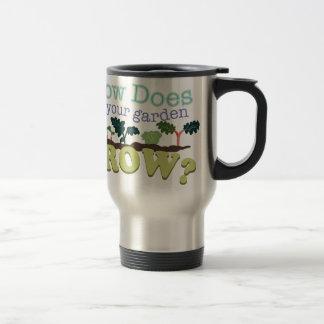 Garden Grow 15 Oz Stainless Steel Travel Mug