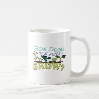 Garden Grow Classic White Coffee Mug