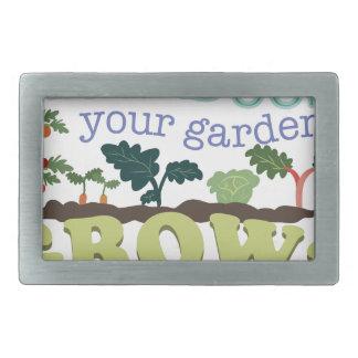 Garden Grow Rectangular Belt Buckle