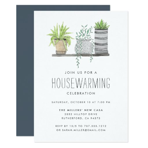 Garden Grown Housewarming Party Invitation