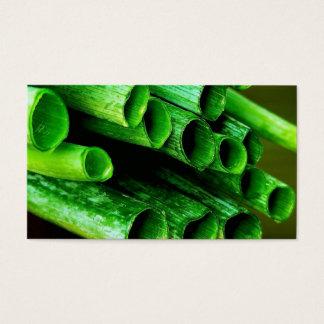 Garden Grown Leeks Business Card